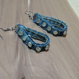 💕3/15💕 Denim earrings